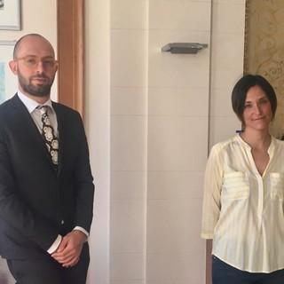 Gianluca Albè e Chiara Greco nello studio A&A di Busto