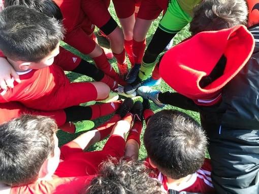 PICCOLI GRANDI BIANCOROSSI. I ragazzini dell'Accademia Varese in campo sabato a Viggiù con il Milan