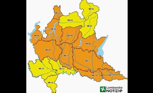 La Protezione civile dichiara l'allerta arancione sul nostro territorio anche per rischio idrogeologico