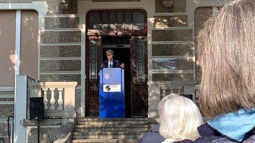 Galimberti in Svizzera per la nuova sede dell'Archivio del Moderno: «Una parte di questo patrimonio darà lustro a Varese»