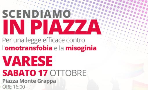 Arcigay e Sardine sabato in piazza a sostegno della legge contro omotransfobia