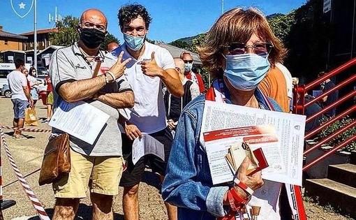 Tifosi in marcia su Masnago per acquistare il Fan Kit Prelazione (foto Pallacanestro Varese)