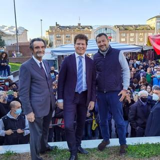 FOTO e VIDEO. Salvini a Varese per Bianchi: «Con Matteo la città può decidere di guardare al futuro»