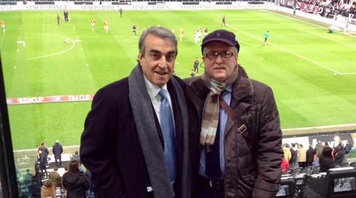 Antonino Testa insieme a Pietro Anastasi allo Stadium