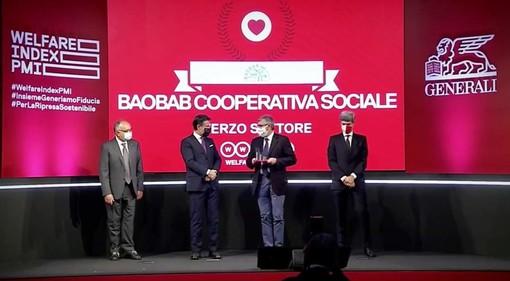Baobab Cooperativa Sociale riceve il premio Welfare Champion 2020