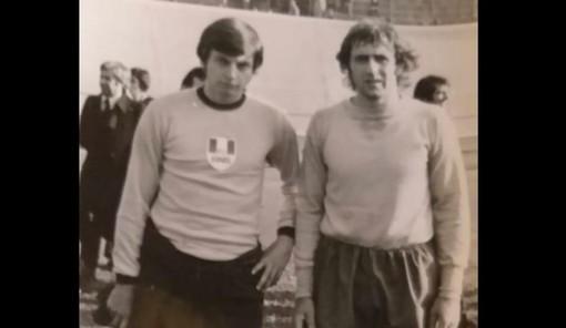 Dall'archivio di Silvio Papini, una foto insieme a Bellugi: i due hanno vissuto insieme l'esperienza del militare