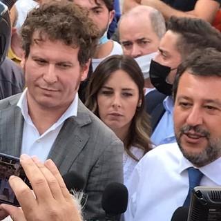 FOTO e VIDEO. Matteo Salvini da piazza XX Settembre: «Cinque anni di nulla, Galimberti fa bene ad aver paura»