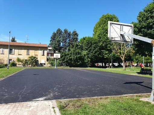 Sono iniziati i lavori al campo da basket di Borsano