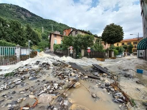 Una delle immagini di devastazione postata dal sindaco di Cernobbio Matteo Monti