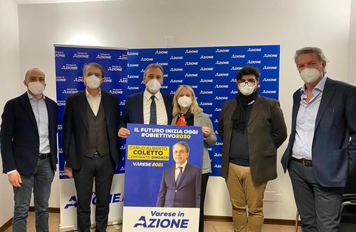 Coletto candidato sindaco di Azione. Nel nome di Pignone. «Varese è grigia, ridiamole il colore del futuro. Progettiamo la città del 2030»