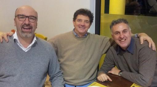 Nella foto del 2014 pubblicata da Roseto.com Chicco Zorzi, Iwan Bisson e Cedro Galli: un terzetto targato Varese
