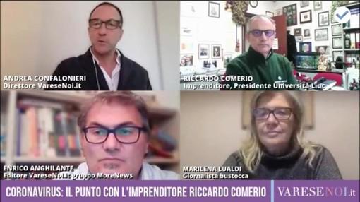 VIDEO. Le parole giuste dell'imprenditore Riccardo Comerio a VareseNoi: «E quindi uscimmo a riveder le stelle»