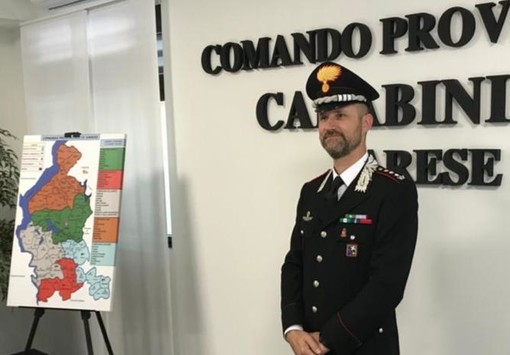 Il colonnello Gianluca Piasentin, nuovo comandante provinciale dei carabinieri di Varese