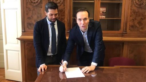 VIDEO. Il ritorno di Stefano Clerici a Palazzo Estense: «Saremo la voce dei cittadini»