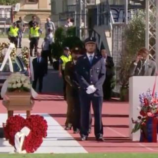 Lo stadio accoglie l'addio al sindaco Borradori (immagini dalla diretta di Teleticino)