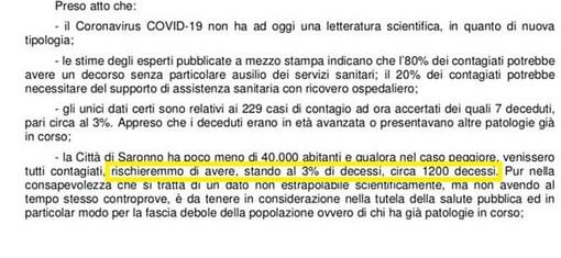 Coronavirus, bufera politica sulla frase shock del sindaco di Saronno. Il Pd attacca, lui replica: «Strumentalizzazioni»