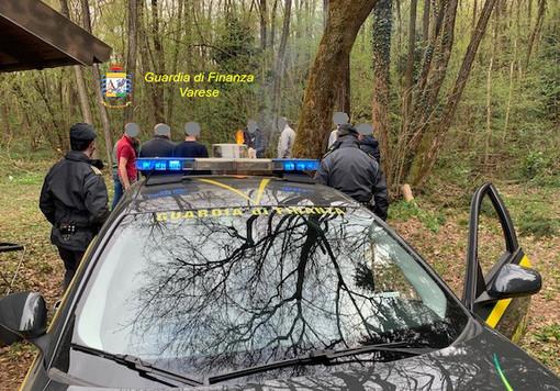 Festa di compleanno abusiva nei boschi di Gaggiolo interrotta dalle Fiamme Gialle