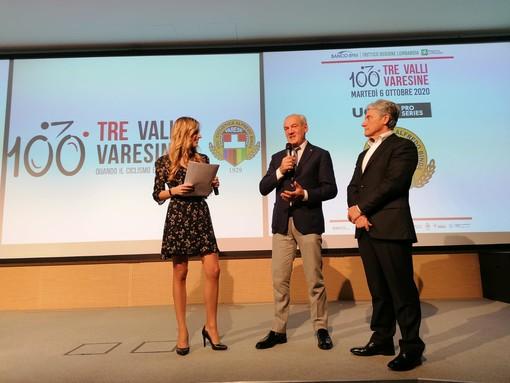 """Tre Valli, il logo del centenario è un """"grazie"""" alla polizia. Saronni: «Sono i nostri angeli custodi»"""