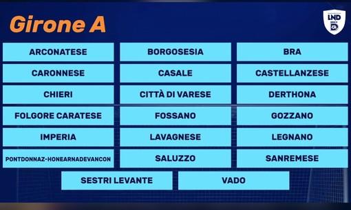 FLASH. Ecco le avversarie del Varese: girone a 20 con liguri e piemontesi