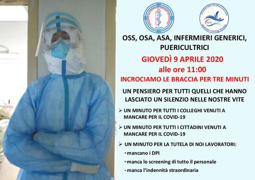 #iononcisto: il 9 aprile operatori sanitari e infermieri si fermano per tre minuti alle ore 11