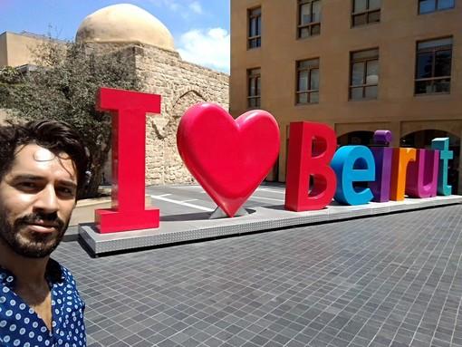 Ghassan a Beirut qualche anno fa: una foto che parla da sola