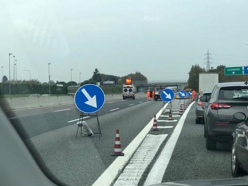 Incidente in A8, autostrada chiusa tra Castellanza e Busto Arsizio