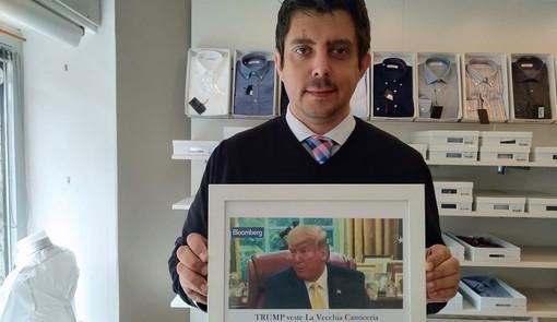 LA STORIA. Matteo Petullo e quella pazza idea di creare la camicia per Trump: «Che soddisfazione. Ma più tutele per il Made in Italy»