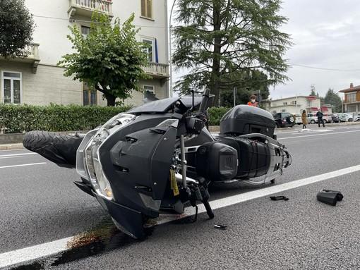 FOTO. Scontro auto moto in viale Borri, grave uomo di 59 anni
