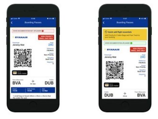 Ryanair lancia il suo wallet per raccogliere tutti i documenti sul Covid dei passeggeri