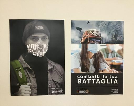 All'Olga Fiorini di Busto i ragazzi promuovono l'uso della mascherina attraverso una campagna sociale d'effetto