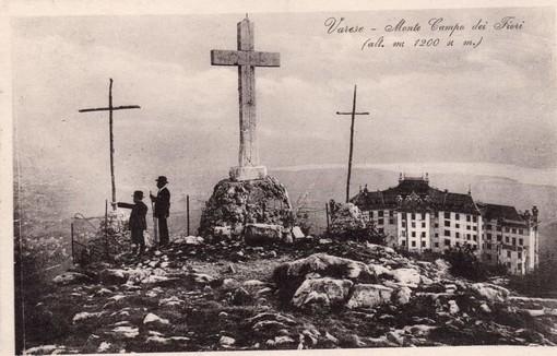 Le Tre Croci sorvegliano Varese dal Campo dei Fiori dalla notte dei tempi (foto tratta dalla pagina Facebook La Varese Nascosta, come quelle della gallery)