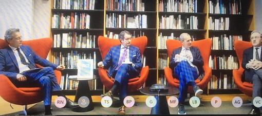 Il dibattito alla Liuc: da sinistra Tronconi, Robiglio, Visconti e Helg