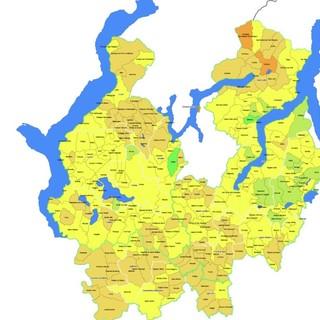 La mappa della copertura vaccinale sul territorio di Ats Insubria