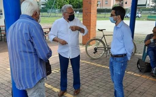 Il tour elettorale di Maggioni ieri a Borsano
