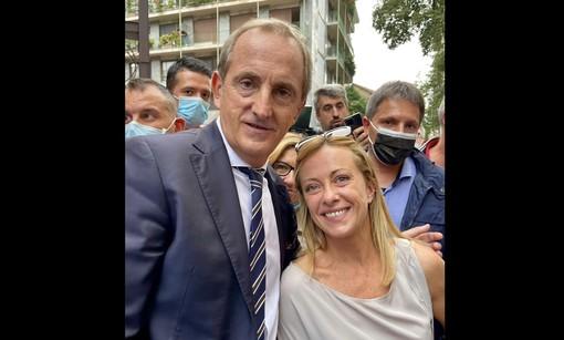 Giorgia Meloni con Emanuele Antonelli