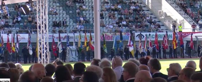 La commemorazione allo stadio di Cornaredo (dalla diretta di Teleticino)