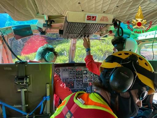 Monteviasco, escursionisti in difficoltà: recuperati con l'elicottero