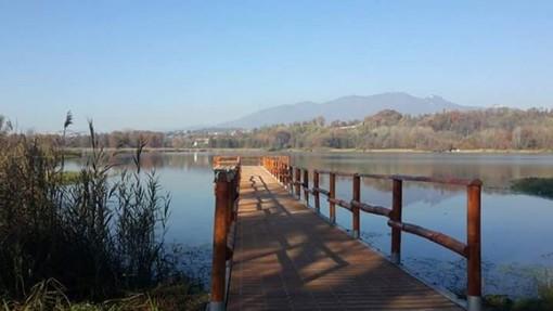 Rinasce l'area naturale vicino al porticciolo di Capolago con vista su Sacro Monte, Campo dei Fiori e Monte Rosa