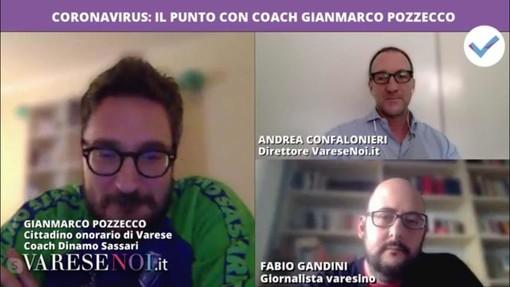 VIDEO. Pozzecco in diretta a VareseNoi: «A giugno mi sposo. Il problema non è giocare ancora ma rinunciare tutti a qualcosa e salvare le società. Sento che tornerò a Varese»