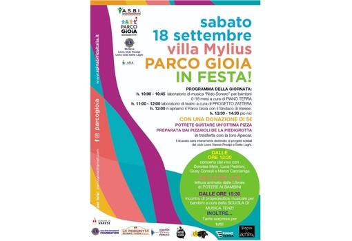 Il Parco Gioia ri-apre con un grande evento a Villa Mylius