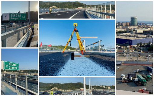 VIDEO E FOTO. In viaggio sul nuovo ponte San Giorgio di Genova che verrà aperto mercoledì. Nel nome di chi non c'è più e della Ligura