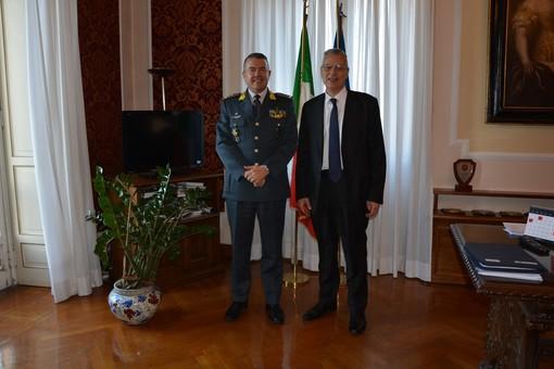 Villa Recalcati, il prefetto di Varese Ricci incontra il comandante regionale della Guardia di Finanza