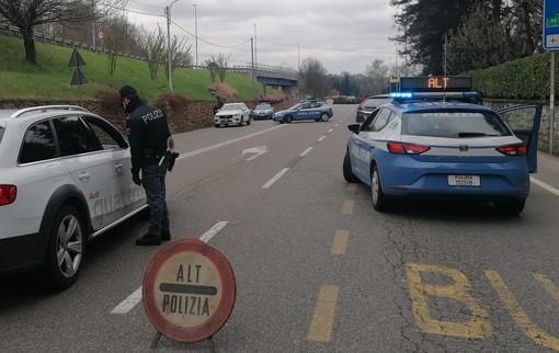 FOTO. Varese blindata, posti di blocco della polizia in entrata e uscita dall'autostrada