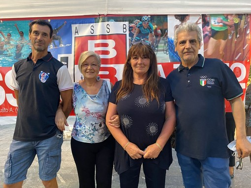 Da sinistra Roberto Roggiero, Maria Teresa Nasatti, Patrizia Testa e Fabrizio Ranisi. Una bella serata di sport tutti insieme