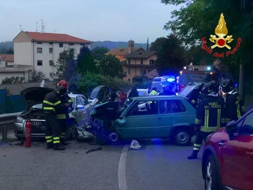 Scontro tra auto a Castiglione Olona, quattro persone coinvolte