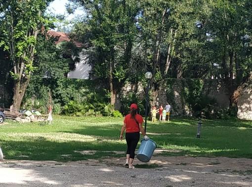I volontari di Pro Loco ripuliscono i Giardini Estensi e raccolgono un sacco di... mutande