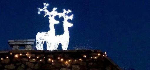 Le due renne-sentinelle che vi accoglieranno in cima alla Via Sacra