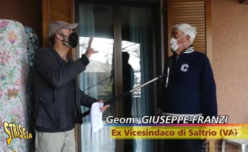 Striscia la Notizia a Saltrio per l'antenna del vice sindaco Franzi