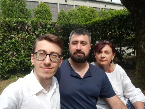 Da sinistra: Sergio Russo, Alessandro Terranova e Marina Martorana, fondatori di Spazio Verbano