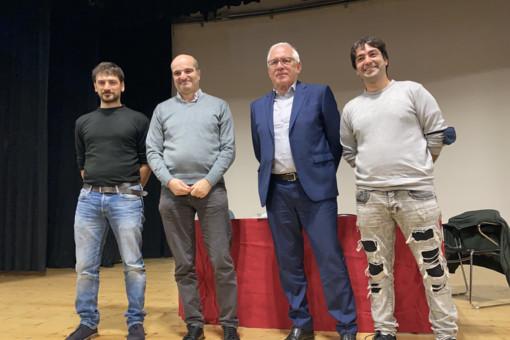 Da sinistra Bianchi, don Corvi, Fantinati e Grima